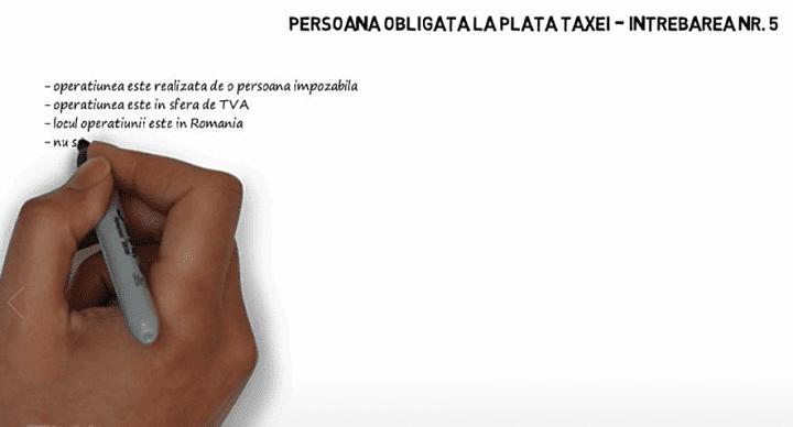 TVA - Persoana obligata la plata taxei